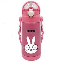 Детский термос-поилка Animal 500 ml Кролик