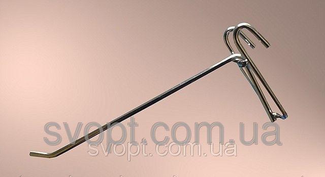 Крючок хромированный на сетку,30 см. (5мм.)