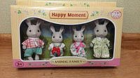 Набор флоксовых животных Happy Family MBE18-5, аналог Sylvanian Families