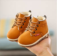 Ботинки детские зимние коричневые