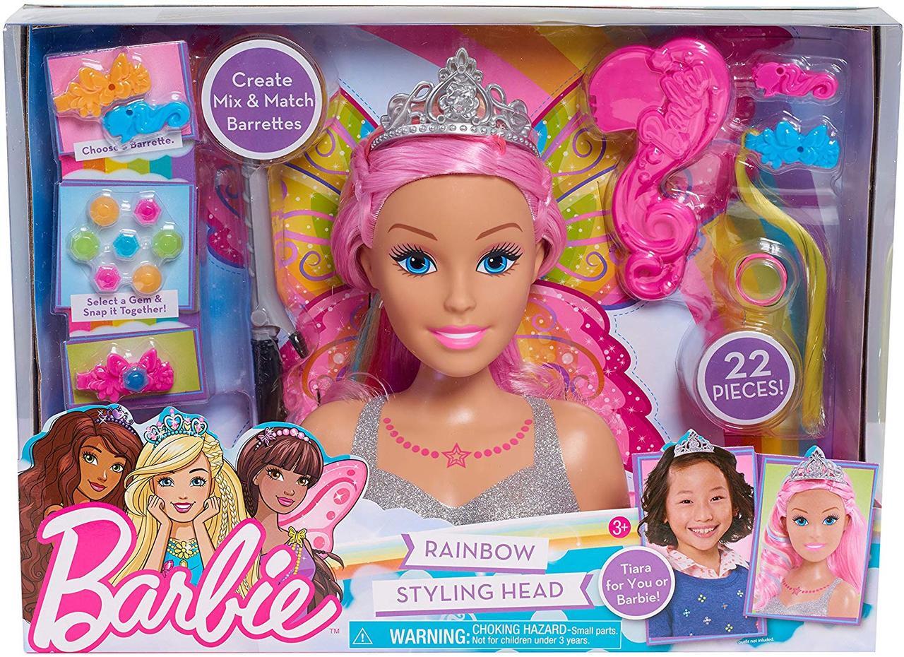 Набор голова куклы Барби создания для причесок,  Barbie Dreamtopia Styling Head