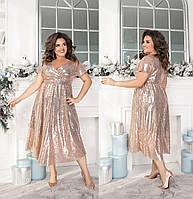 """Платье больших размеров """" Пайетка """" Dress Code, фото 1"""