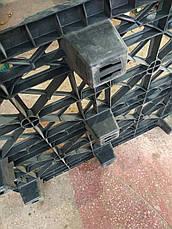 Легкий пластиковый поддон на ножках PP 1200x1000x140мм б/у, фото 3