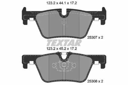 Комплект тормозных колодок, дисковый тормоз 2530701 TEXTAR