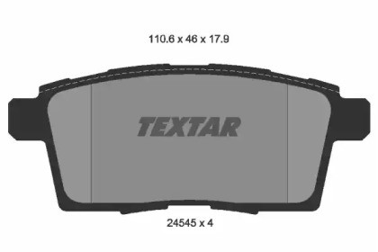 Комплект тормозных колодок, дисковый тормоз 2454501 TEXTAR