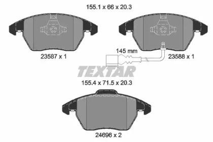 Комплект тормозных колодок, дисковый тормоз 2469602 TEXTAR