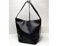 Женская кожаная сумка Laura Biaggi (12965) черная