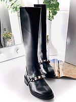 Крутые кожаные сапоги GIVENCHY (реплика), фото 1