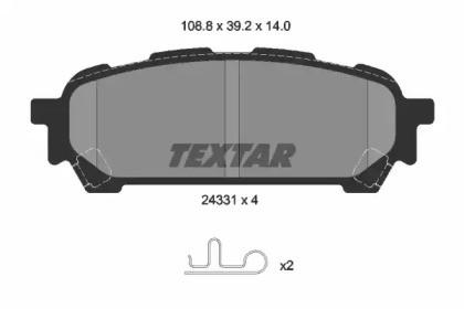 Комплект тормозных колодок, дисковый тормоз 2433101 TEXTAR