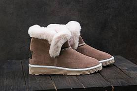 Ботинки женские Best Vak УГ 44 -01 бежевые (замша, зима)
