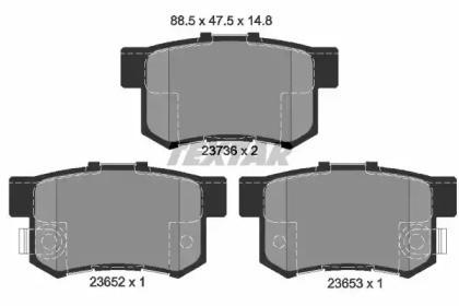 Комплект тормозных колодок, дисковый тормоз 2365201 TEXTAR