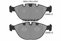 Комплект тормозных колодок, дисковый тормоз 2344801 TEXTAR