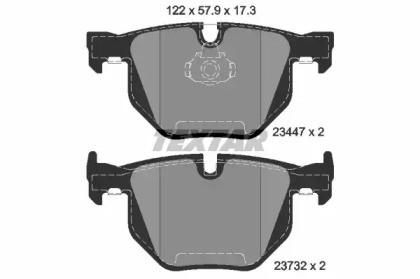 Комплект тормозных колодок, дисковый тормоз 2344704 TEXTAR