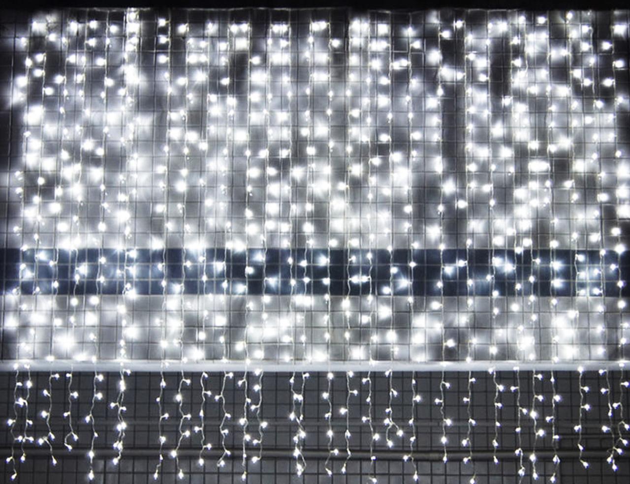 Светодиодная гирлянда Водопад Занавес curtain light 720 светодиодных лампочек 3м х 2м штора занавес