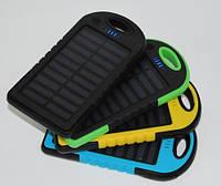 Внешний аккумулятор портативное зарядное устройство Solar Power Bank 12000 mAh с солнечной батареей 2 USB