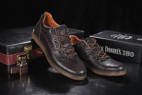Повседневная обувь мужские Yuves 650 коричневые (натуральная кожа, весна/осень)