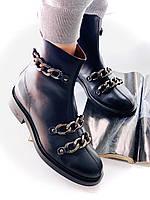 Крутые кожаные ботинки GIVENCHY (реплика), фото 1
