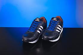Кроссовки подростковые Yuves 85 синие (натуральная кожа, весна/осень)