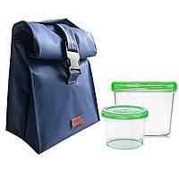 Lunch bag для обеда с судочками ORGANIZE LBag-Blue синий