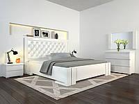 Кровать Arbor Drev Амбер бук без подъемного механизма 160х200, Белый