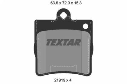 Комплект тормозных колодок, дисковый тормоз 2191901 TEXTAR