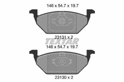 Комплект тормозных колодок, дисковый тормоз 2313001 TEXTAR