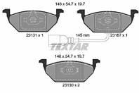 Комплект тормозных колодок, дисковый тормоз 2313101 TEXTAR