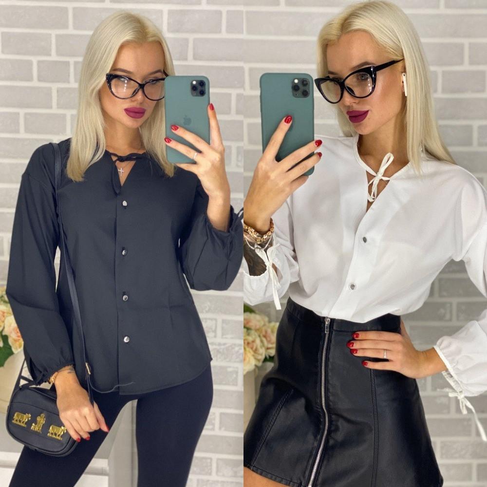 Блузка  женская стильная, повседневная, на пуговицах, офисная, повседневная, норма и батал, фото 1