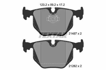 Комплект тормозных колодок, дисковый тормоз 2148701 TEXTAR