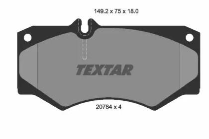 Комплект тормозных колодок, дисковый тормоз 2078401 TEXTAR