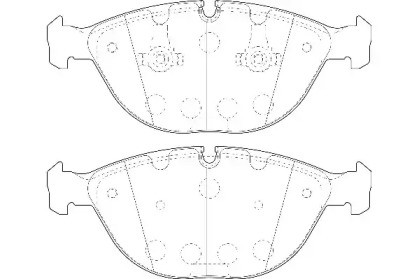 Комплект тормозных колодок, дисковый тормоз WBP23894A WAGNER