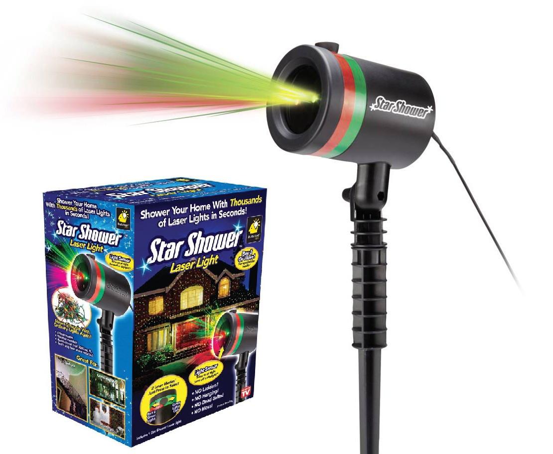 Вуличний новорічний лазерний проектор Star Shower 8 в 1 15W Стар Шовер пластик
