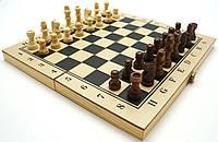 Шахматы / Шашки / Нарды 30х30 см. Дерево. Темно-Кор.