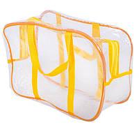 Компактная прозрачная сумка в роддом ORGANIZE K005-1-1 желтый