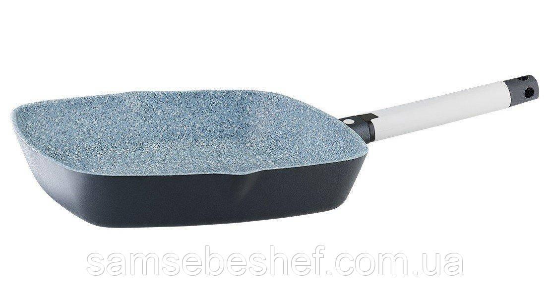 Сковорода-гриль 28*28 см Vinzer Greblon Compact Induction line 89514