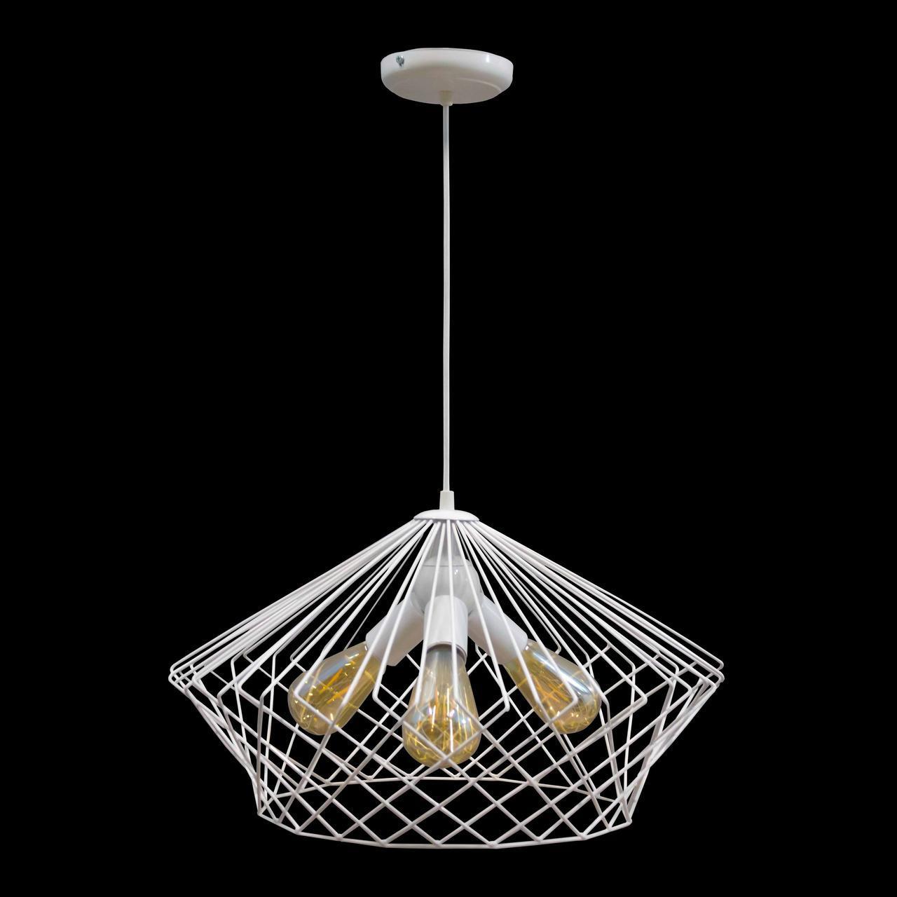 Світильник підвісний в стилі лофт NL 3429-3 W MSK Electric