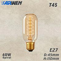 Лампочка Эдисона накаливания под старину