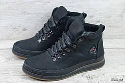 Мужские кожаные зимние ботинки (Код: 63 чер ) ►Размеры [40,41,42,43,44,45]