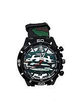 Часы мужские Pinbo Army на силиконовом ремешке. Зеленый