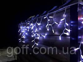 Уличная гирлянда бахрома 3x0,7м белый 100 LED на белом проводе