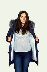 Женская зимняя куртка парка на меху от 44 до 48 размера