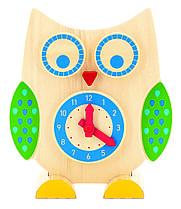 Іграшки з дерева Світ дерев'яних іграшок Годинник і рахівниця Сова (Д391)
