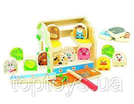 Збірна модель Мир дерев'яних іграшок Гравець в гольф (С008)