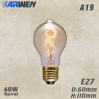Лампочка Эдисона накаливания винтаж