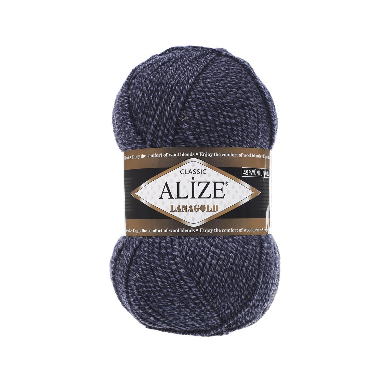 Пряжа для вязания Лана голд цвет 901  джинсовый меланж