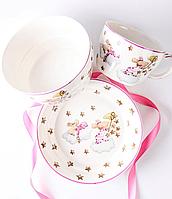 Набор детской посуды Розовые мышки 924-486