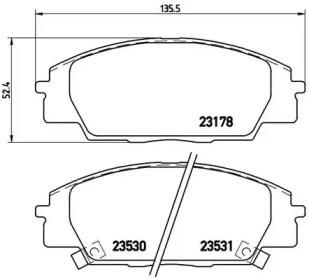 Комплект тормозных колодок, дисковый тормоз P 28 032 BREMBO