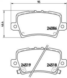 Комплект тормозных колодок, дисковый тормоз P 28 038 BREMBO