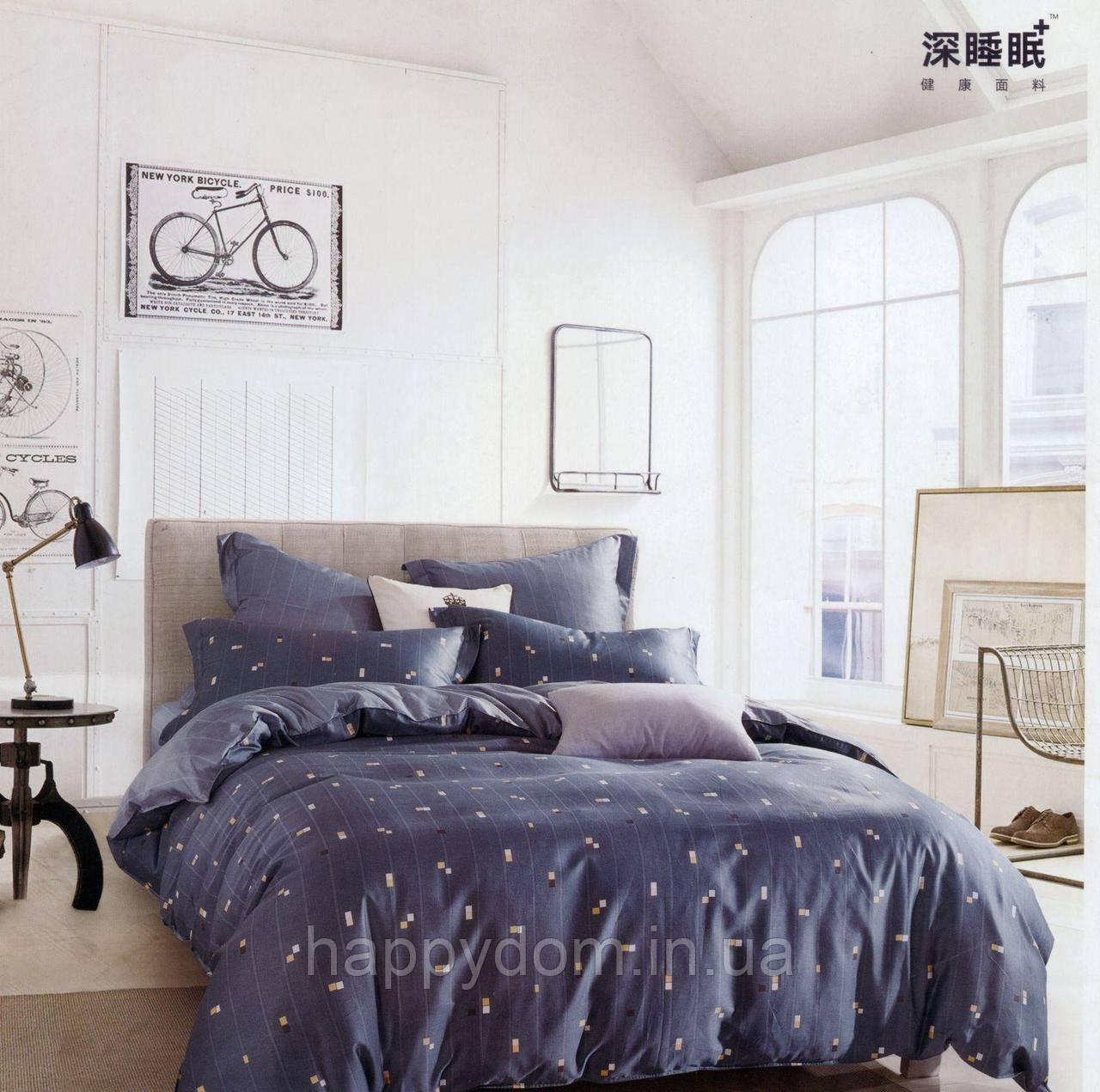 Двуспальное евро постельное белье из египетского хлопка ТМ Kesar Polo
