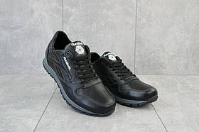 Кроссовки мужские Lions R16 черные (натуральная кожа, весна/осень)
